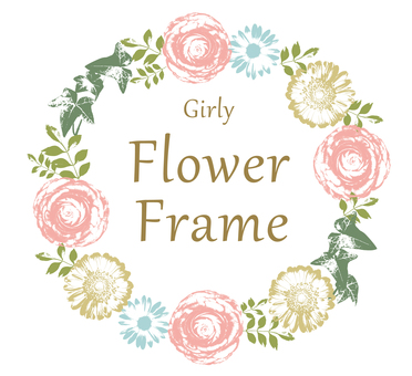 Girly flower frame