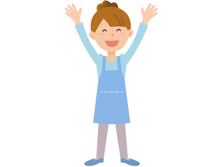 70110. Female apron, all ages