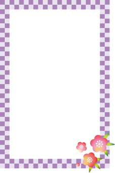Japanese pattern frame and flower