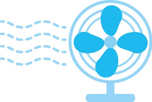 電風扇藍色