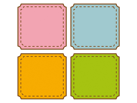 Rectangular corner chipped patch set 1