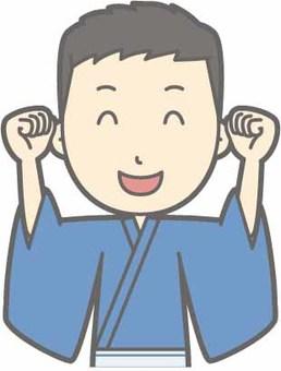 유카타 남성 - 두근 두근 - 가슴