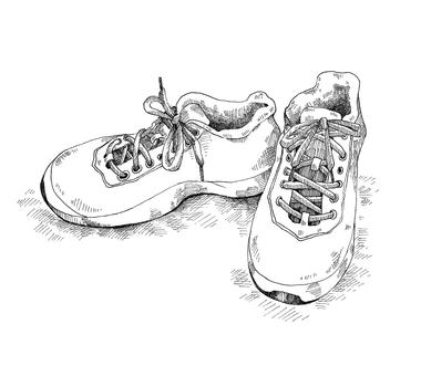 Sneaker pen drawing