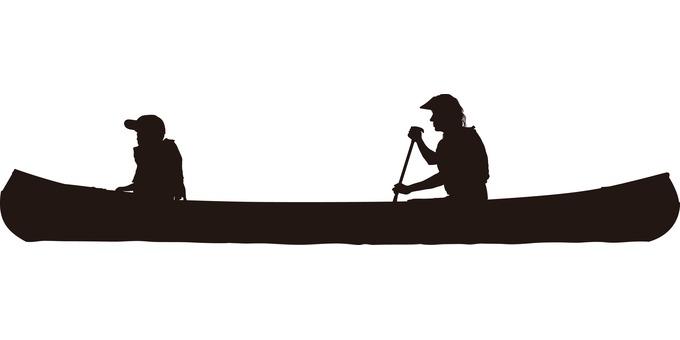 Canoe Canadian Canoe Silhouette
