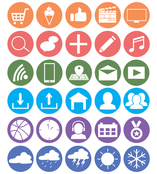 Set of icons to use in daily life