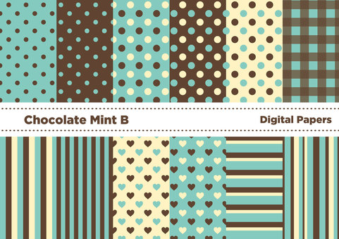Chocolate Mint Color Wallpaper B (Green)