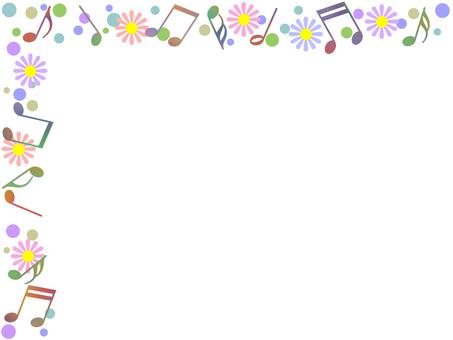 音符フレーム音楽飾り枠素材イラスト