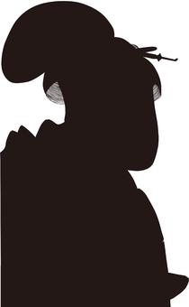 Ukiyo-e character silhouette part 164