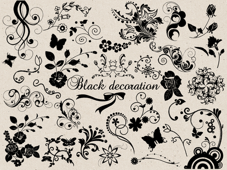Black decoration