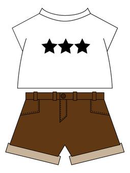 Line star shorts Corde