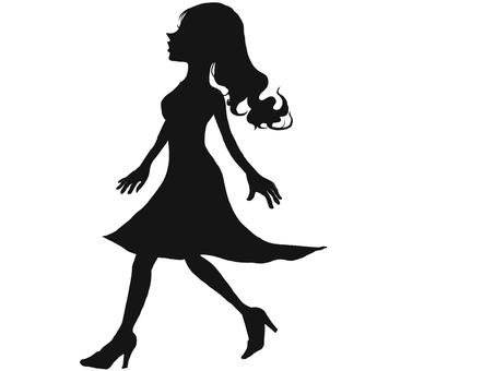 걷는 여자