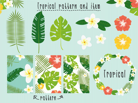 Botanical · Tropical pattern / frame