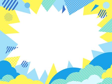Summer image Cool color pop concentration line 2