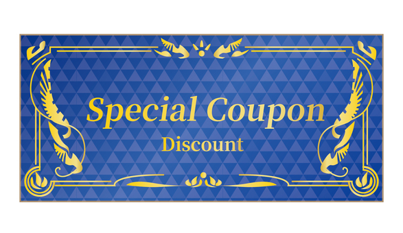 Gift certificate No face value Coupon Gift certificate Blue