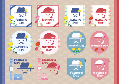 Father's Day & Mother's Day icon set_01