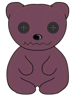 Handmade teddy bear (azuki color)