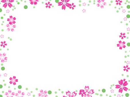 프레임 벚꽃 그린