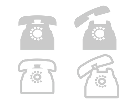 Classic phone icon 07