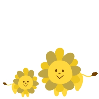 Lion's parent and child
