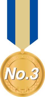 Medal ribbon bronze medal