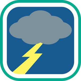 Weather icon Thunder Night