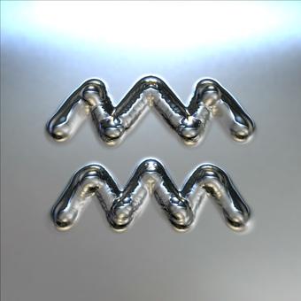 Metal plate - Aquarius mark