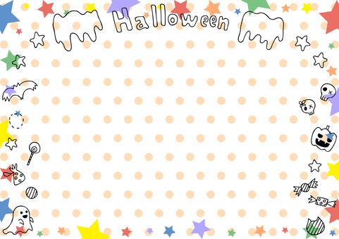 Halloween star frame dot background
