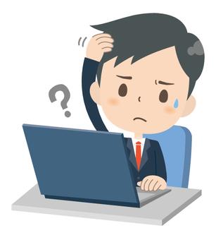 Businessman * Personal computer service 03