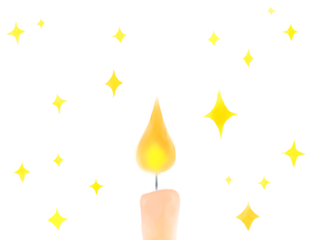 Candle and glitter