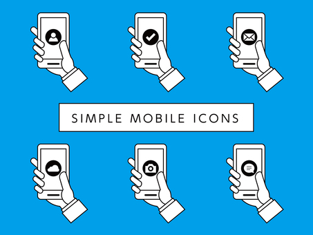 Smart phone business icon