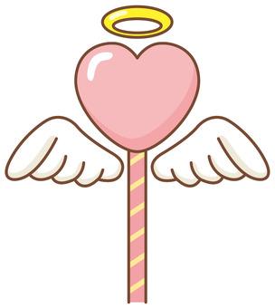 Heart angel stick