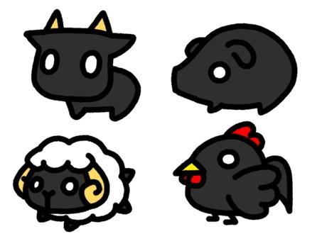 Ranch animal black