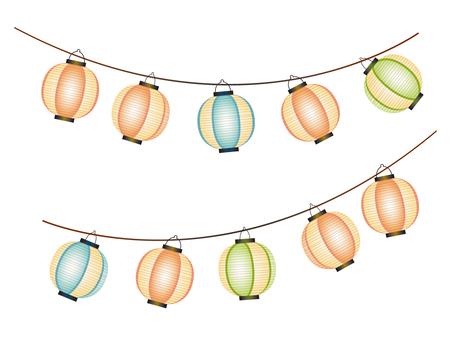 Material hanger lantern