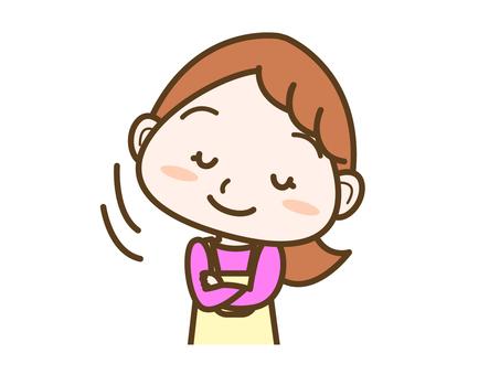 Female facial expression