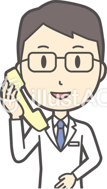 医師青年眼鏡-248-バストのイラスト