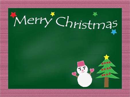 크리스마스 칠판 소재