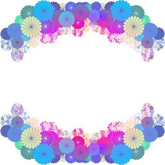 Flower frame blue