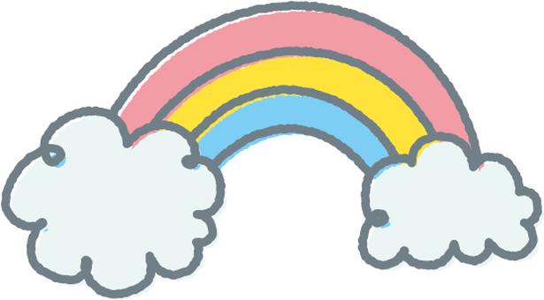 【Rainy season】 clouds and rainbow