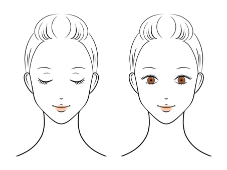 Female face illustration