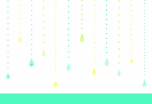 水彩画風背景素材_レイン06