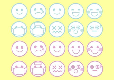 Emoticons ◆ 2 colors ◆ set