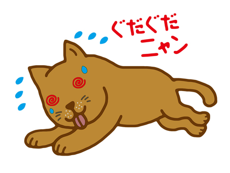 Summer beating cat