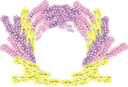 등나무 꽃 메세지 카드