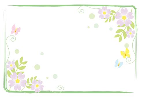 春天的花框架