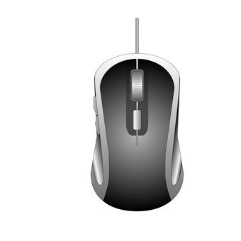 Wired mouse (black)