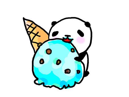 Panda to eat ice cream