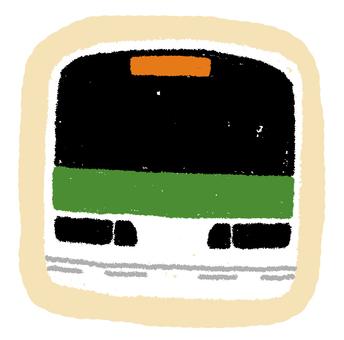 야마노 테선 전철의 조각 실