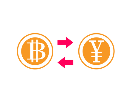 Exchange of bit coin and Japanese yen