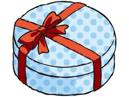 Present box (blue)