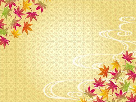 Autumn Japanese pattern frame 04